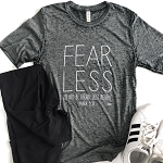 Fear Less Acid Washed Short Sleeve T-Shirt