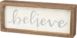 Inset Box Sign - Believe