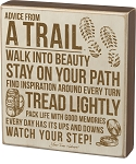 Box Sign - Advice From A Trail