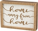 Inset Box Sign - Home Away From Home