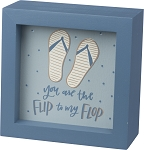 Inset Box Sign - Flip To My Flop