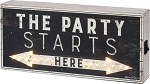 LED Box Sign - The Party Starts Here