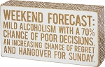 Box Sign - Weekend Forecast