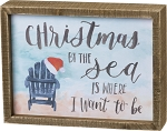 Inset Box Sign - Christmas By The Sea