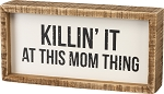 Inset Box Sign - Mom Thing