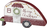 Shaped Sitter - Camper - Merry Christmas