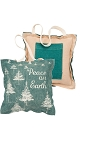 Mini Pillow Gift Card Holder - Peace On Earth