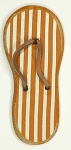Magnet - Yellow & White Striped Flip Flop