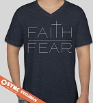 Faith Over Fear T-Shirt - Heather Navy