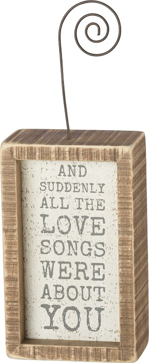 Inset Photo Block - All The Love Songs Were About