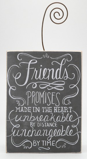 Photo Block - Friends - Promises Made In The Heart