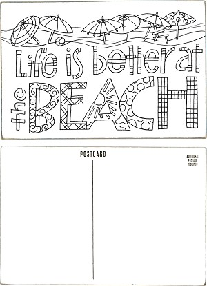 Wooden Postcard - Life Is Better At The Beach